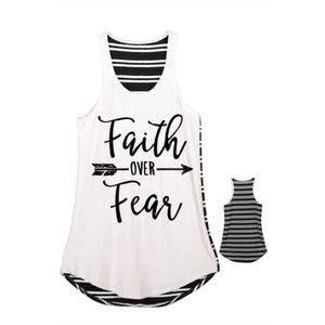 Tops - Faith Over Fear A-line Tank Top with striped back